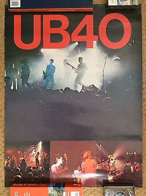 UB40 Original Vintage 1981 SKA REGGAE Music Poster SIGNED by Astro ONE IN TEN