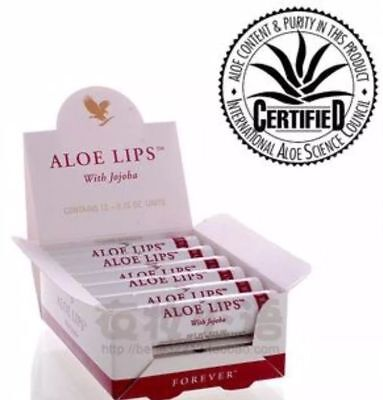 12 packs Forever Living ALOE LIPS with Jojoba and Beeswax Exp.2022