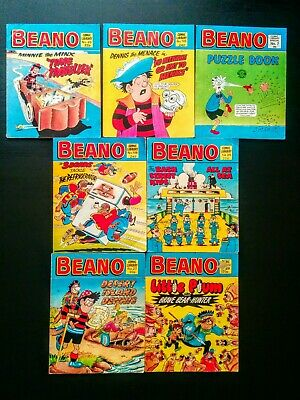 Beano UK Comic Library, Job Lot of 7 Issues 1980's, Vintage (#26 - #105)