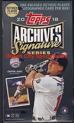 2018 Topps Archives Signature Series Retired Edition Baseball Sealed Hobby Box