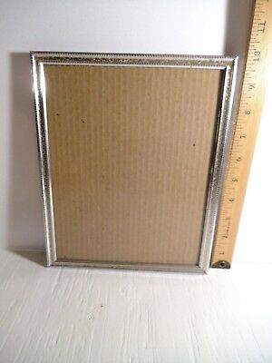 "Vintage Ornate Decorative 8""x10"" Silver And Gold Tone Metal Picture Frame"