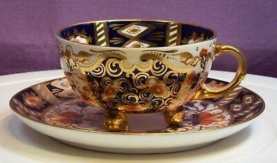 An Antique Davenport Pottery Old Imari Cup And Saucer.