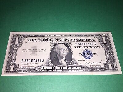 1957 A $1 Silver Certificate AU About Uncirculated Vintage Money Paper Currency