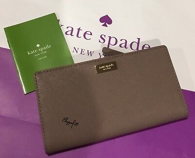 104006b1ae47  149 KATE SPADE Women s Laurel Way Stacy Wallet Black Leather Floral ...