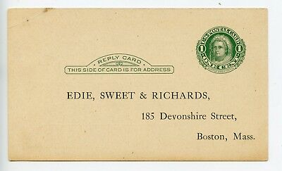USA postal stationery postal card unused + private overprint (R013)