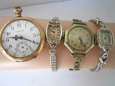 Antique & Vintage Watches for Repair or Parts Waltham Lady Elgin Driva Gruen