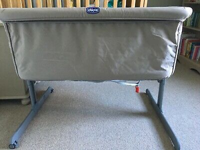 Chicco Next 2 Me Adjustable Side Sleeping Crib, Brand New Mattress & 4 sheets