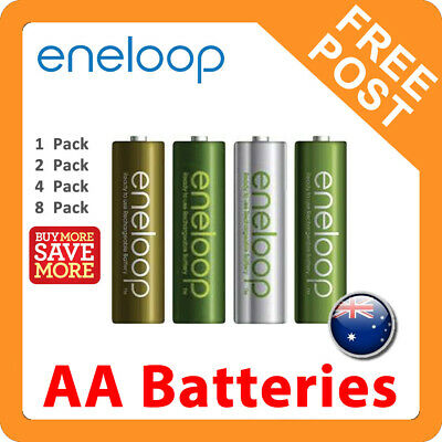 Panasonic Eneloop AA Rechargeable LSD NiMH Batteries - 4th Gen