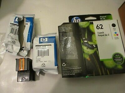 HP 62 Combo Ink Cartridges 62 Black & 62 Color Genuine Exp 3/2020 Open box