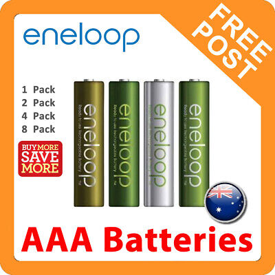Panasonic Eneloop AAA Rechargeable LSD NiMH Batteries - 4th Gen