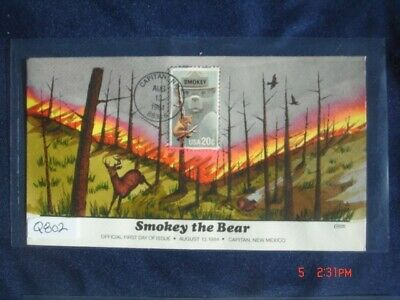 Smokey the Bear 20c Stamp FDC Handpainted Collins#Q802 Sc#2096 Forest Fire 14647