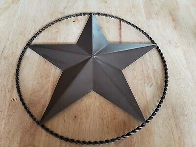 Star Metal Home Decor Rustic Sign Lone Wall