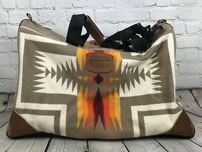 Pendleton Gym Bag Duffle Small Brown Aztec Should Strap Zip Wool Unisex 54282391b6800