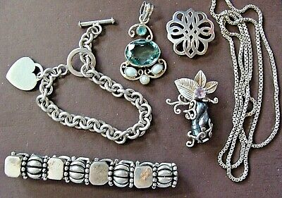 128 Grams Wearable Vintage Estate Sterling Silver Nice Jewelry Lot Scrap Or  Not