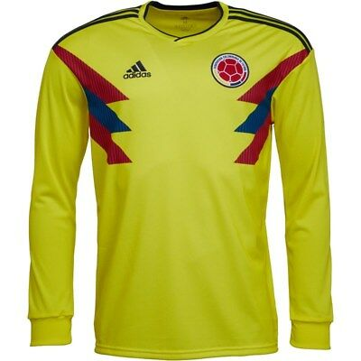 ADIDAS COLOMBIA 2018 19 Long Sleeve Home Football Soccer