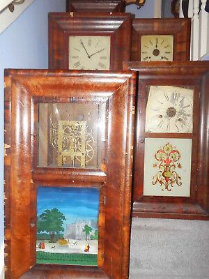 5 Antique Wall Clocks - Spares or Restoration Projects