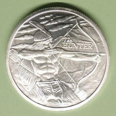2017 Native American Hunter & Buffalo 1 Troy Ounce .999 Fine Silver Round