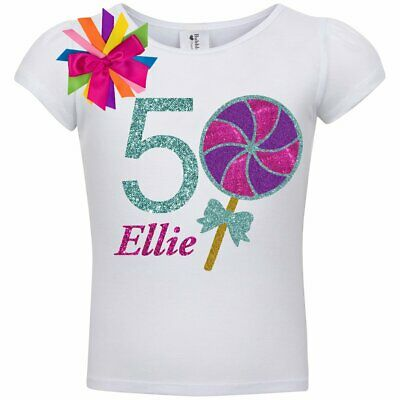 4f567571 Bubblegum Divas Candy land Lollipop 5th Birthday Girl Shirt Personalized  Name 5