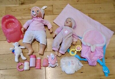 Zapf Creation Baby Annabell Doll & My First doll bundle / lot accessories dummy