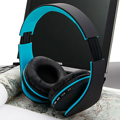 Foldable Bluetooth Headphones Stereo Sports Earphones Super Bass Headset w/ Mic