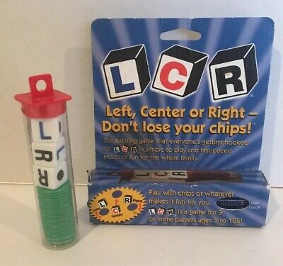 LCR Left Center Right Dice Game  George & Co. VGC - Lot Of 2 Games