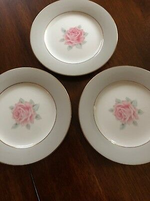 Harmony House Royal Slendor Small Plate With Pink Rose Saucer Set