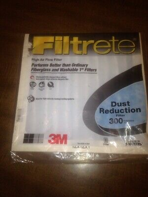 3M Filtrete Clean Living Filter Dust MPR 300 Size 12 X 12 X 1 NEW FACTORY SEALED