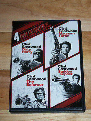 Dirty Harry Collection 4 DVDs, 4 FILMS (Widescreen) Like New