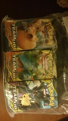 Pokemon TEAMUP Booster Pack Lot - Factory Sealed  10 sealed packs from box sweet