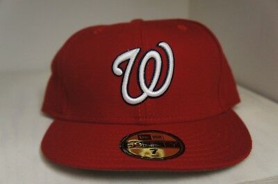 ca47a77c6fa New Era 59Fifty Washington Nationals Fitted Hat 5950 on field MLB Baseball  Hat
