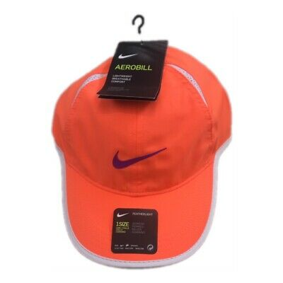 bd32356b73d NWT NEW Nike Women s Featherlight Dri Fit Orange Purple Adjustable Hat Cap