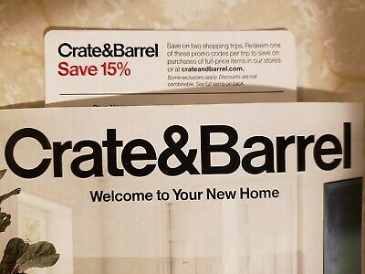 Crate and & Barrel 15% entire order coupon