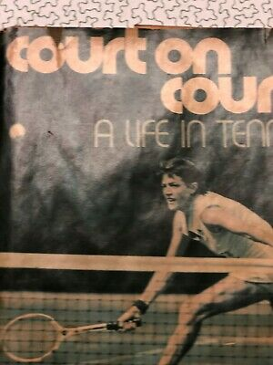 Book, used COURT ON COURT: A Life in Tennis, Margaret Smith Court, signed 1975