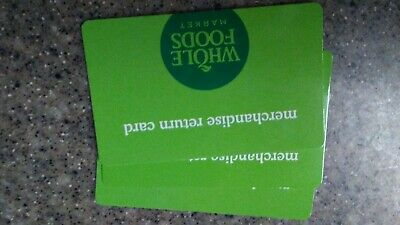 $106.74 Whole Foods Gift Card/ merchandise return card