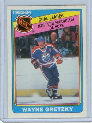 Wayne Gretzky 1984-85 OPC O-Pee-Chee GOAL LEADER #381 FREE shipping NM/MT to MT