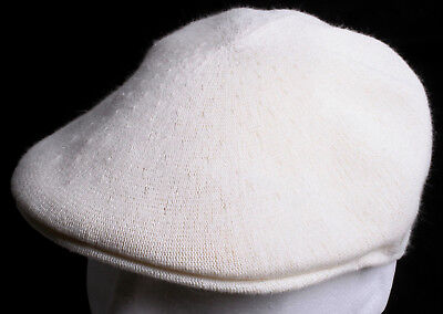 Kangol Bamboo 507 Cream Off White Cap Seamless Hat - Size LARGE - New with  Tags 6e697d7fda02