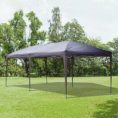 Outsunny 10' x 20' Outdoor Gazebo Pop Up Canopy Wedding Party Tent w/ 2-Tier