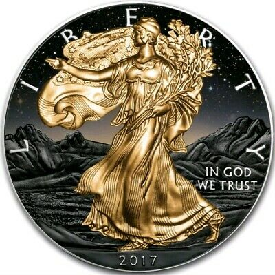 2017 1 Oz Silver $1 AMERICAN EAGLE AT SUNSET Coin.