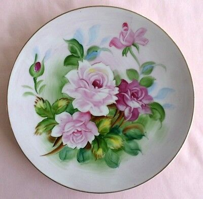 Decorative, Lefton China Hand-Painted Floral Wall Plate