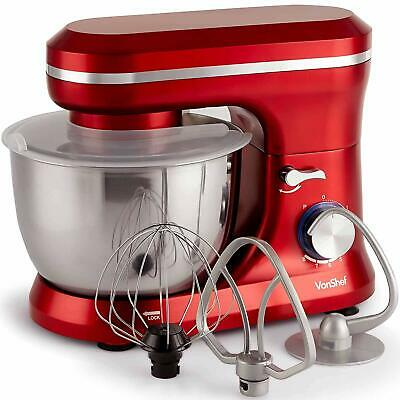 VonShef 1000W Food Stand Mixer 4.5L Mixing Bowl 8 Speeds Beater Dough Hook Whisk