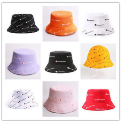 f79f6179568 MENS WOMENS CHAMPION LETTERS Embroider Bucket Hat Sun Caps Unisex ...