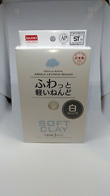 DAISO JAPAN import New DIY Soft Clay Arcilla Suave Lightweight Modeling WHITE Z