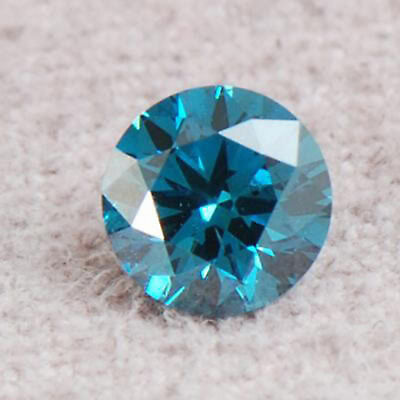 100% Certified Natural Blue Diamond 0.10CT Gorgeous Round Shape