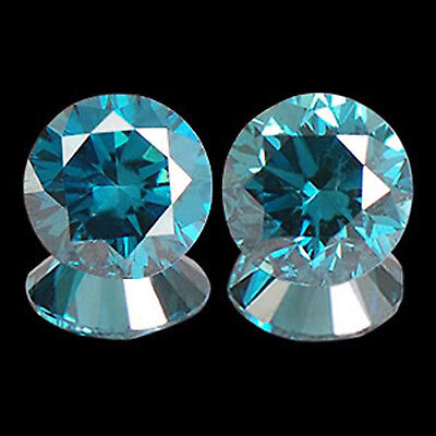 SI2-I2 Clarity Natural Blue Diamond Pair 0.10CT Charming Round Shape