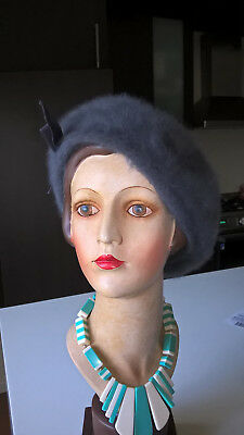 Kangol French Beret Fur Hat Size S 55 Cm Made In England.