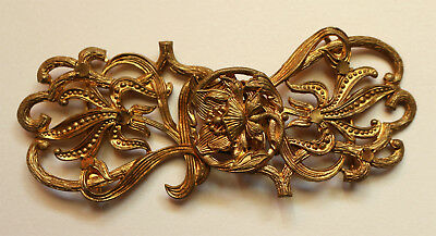 Antica fibbia per cintura Liberty Art Nouveau antique belt buckle (2)