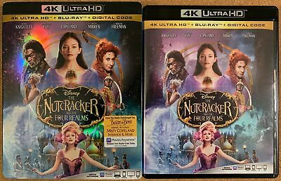 Disney The Nutcracker And The Four Realms 4K Ultra Hd Blu Ray 2 Disc + Slipcover