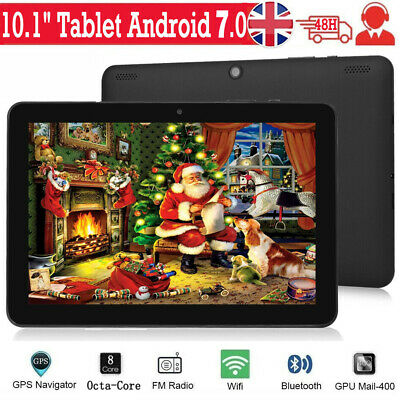 """10.1"""" Inch Tablet HD 64GB Android 7.0 GPS Google Octa-Core Wifi Dual Camera UK"""