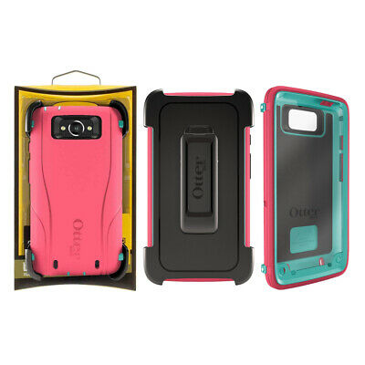 For Motorola Droid Turbo Otterbox Defender Case - Teal Rose NO SCREEN PROTECTOR