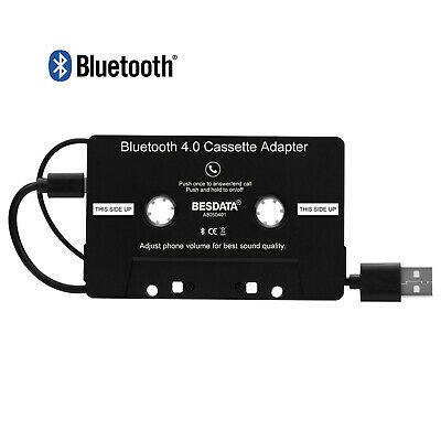 Bluetooth 4.0 Car Tape Cassette Audio Adapter for iPhone iPod Android MP3